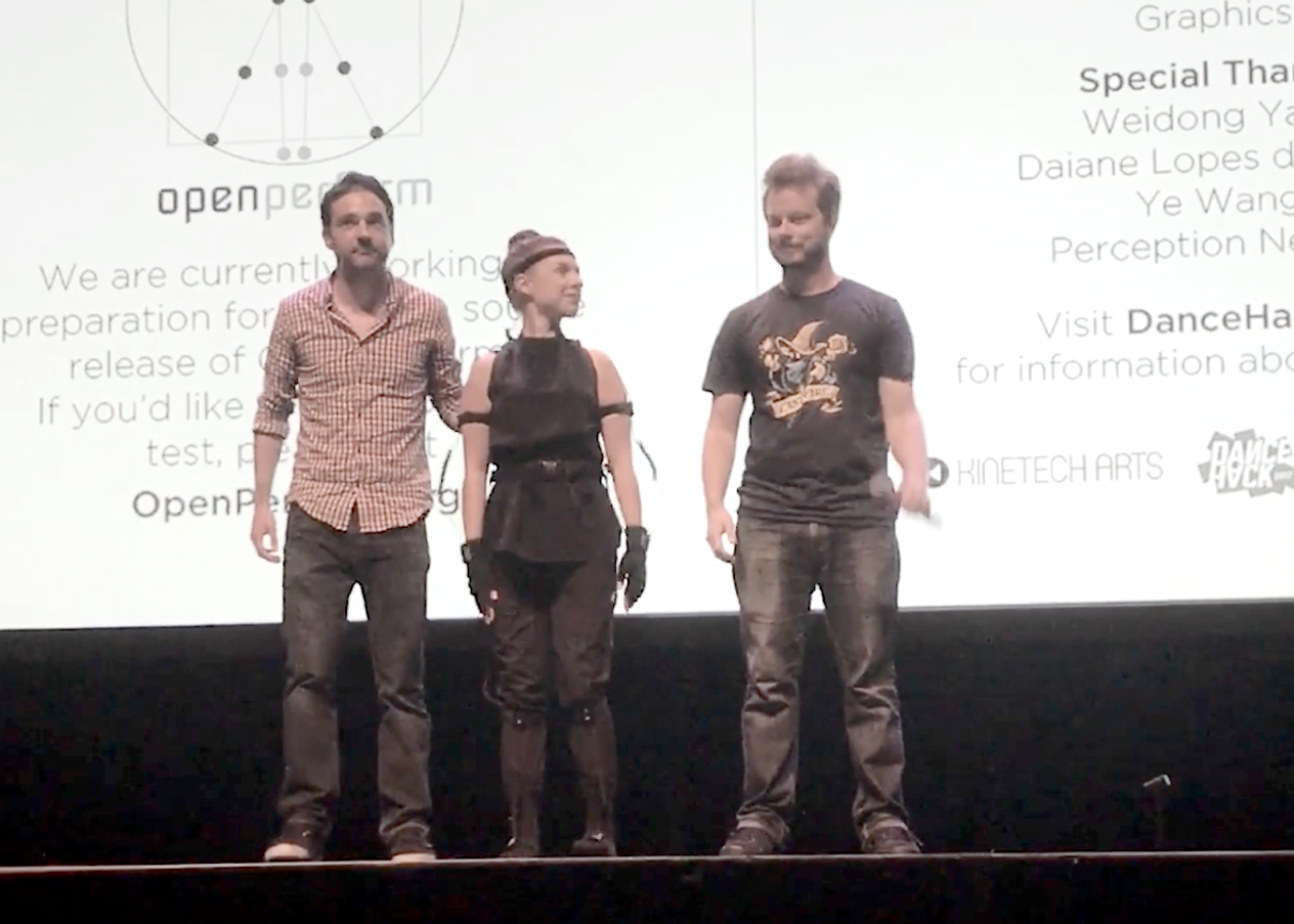 Fabien Lemaitre, Lauren Bedal and Travis Bennett at 3D Webfest