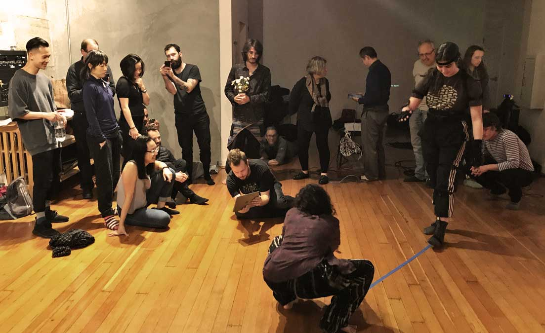 Kinetech Arts Open Lab meets every Wednesday to collaborate and experiment with new technology and performance ideas.