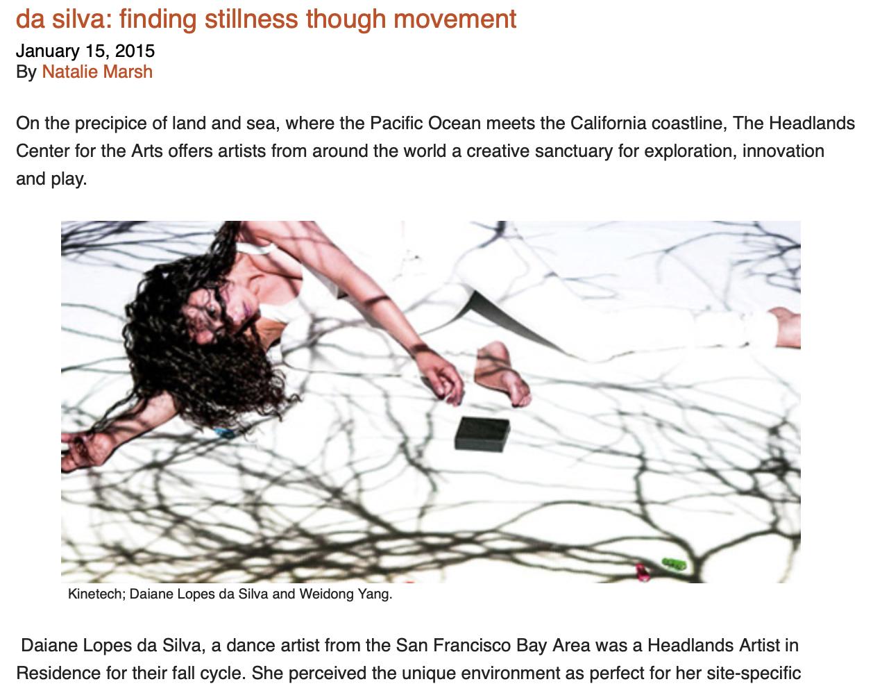 Interview with Daiane Lopes da Silva - da silva: finding stillness though movement