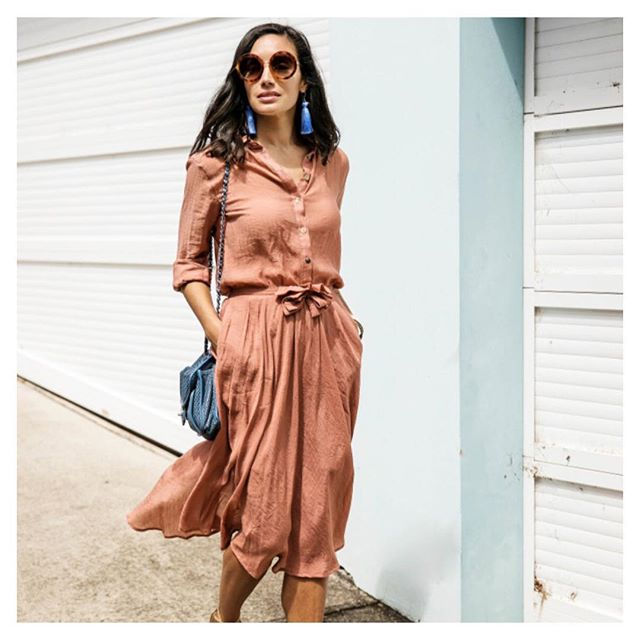 Terracotta Swing Skirt by @paddotopalmy 👌🏼 Perfect Mothers Day luncheon outfit ✨ Spoil yourself with a $250 voucher from @an.adventure.of.the.heart 🖤🖤 It's guilt free spending.... as all proceeds go towards helping the incredible work of Dr Catherine Hamlin @hamlinfistula 🙌🏼 xx