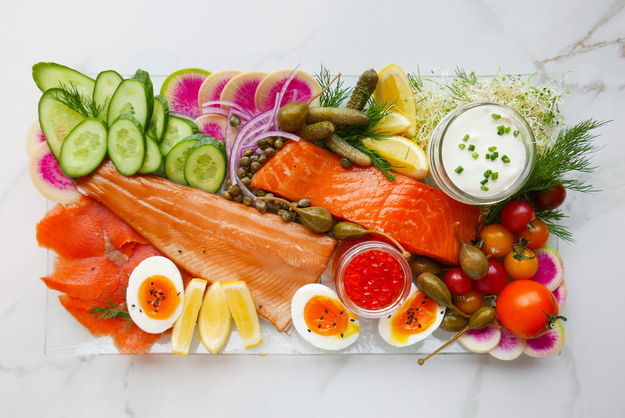 Smoked Fish Platter for Aviation Catering