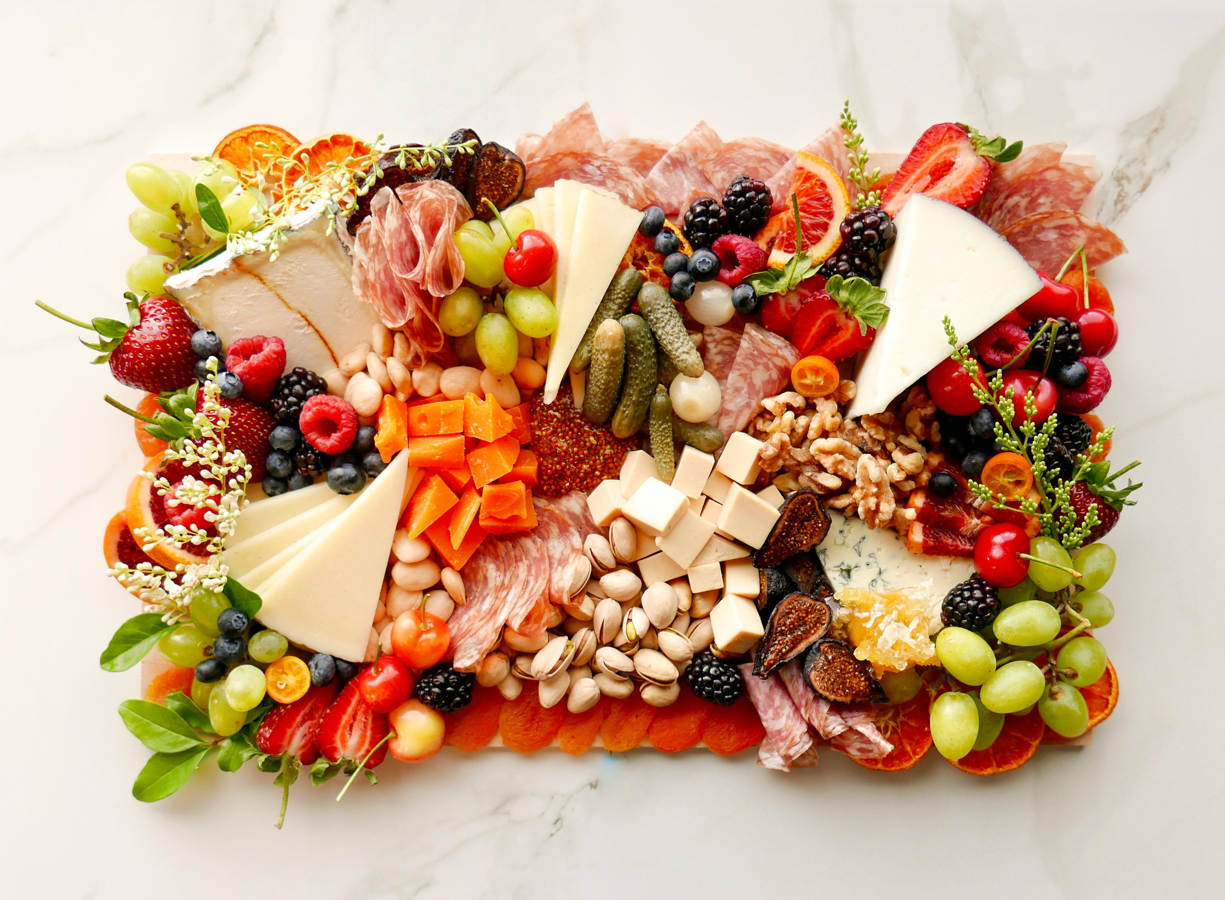 Cheese Meat Fruit and Nut Platter