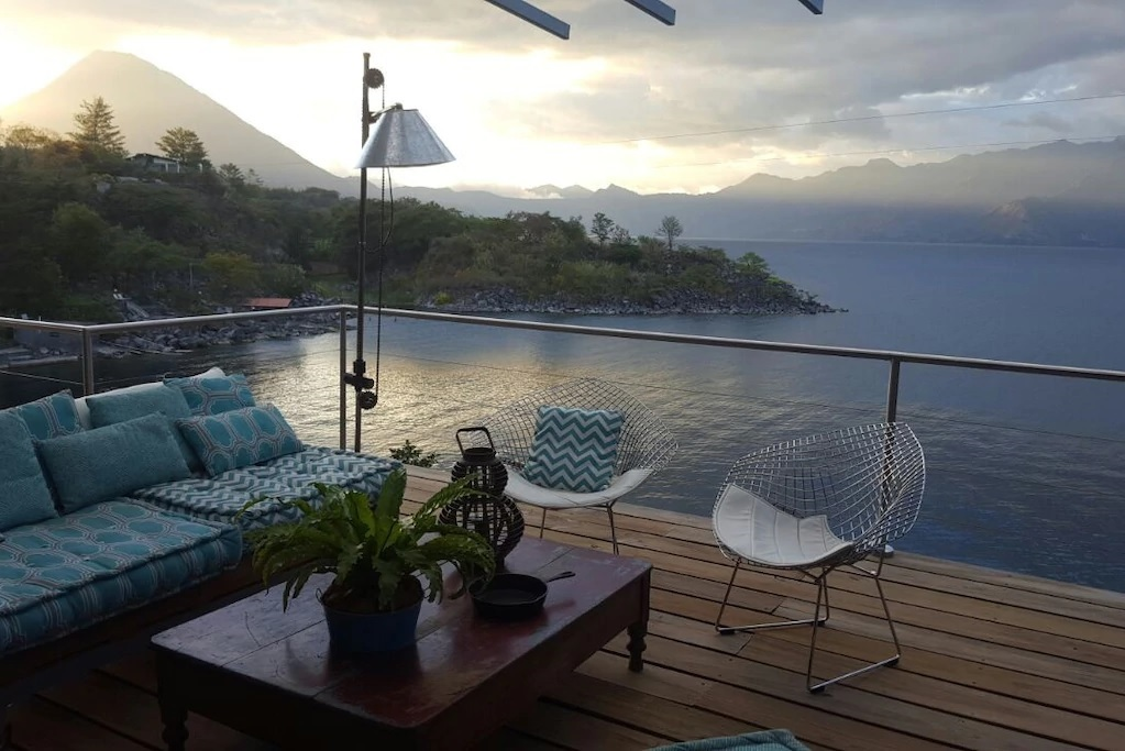 Drink a cup of tea with with these breathtaking views of the surrounding volcanoes. We've heard the energy at this place in powerfully peaceful.