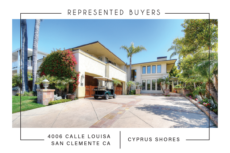 SOLD 4/21/2017    $3,600,000 4006 CALLE LOUISA , SAN CLEMENTE, CA 92672