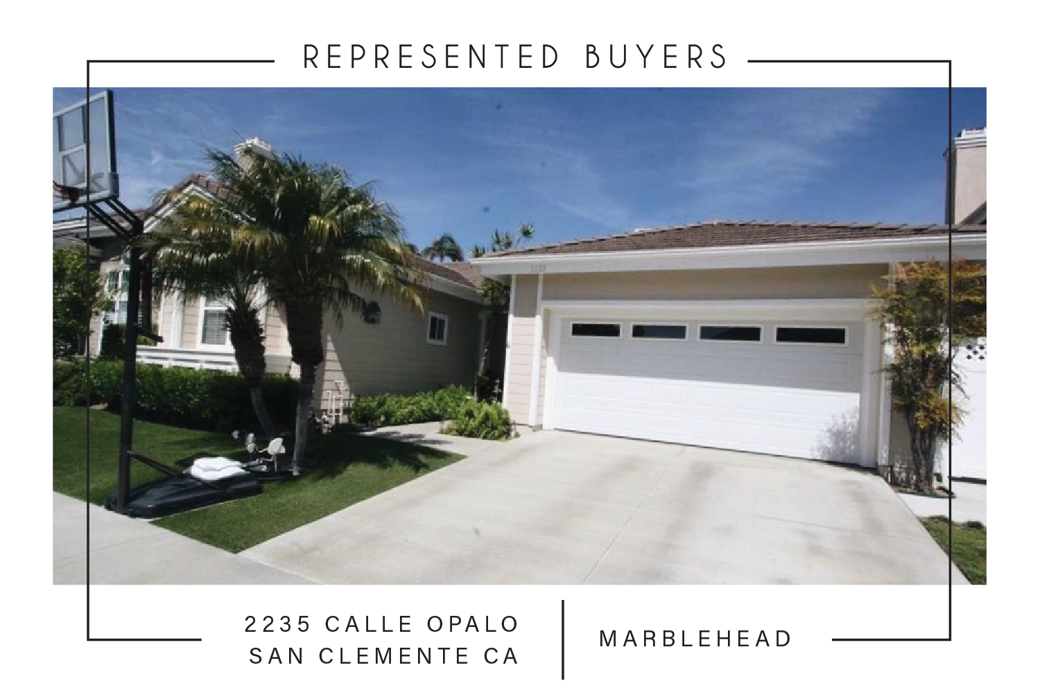 SOLD 7/06/2017    $800,000   2235 calle opalo SAN CLEMENTE CA