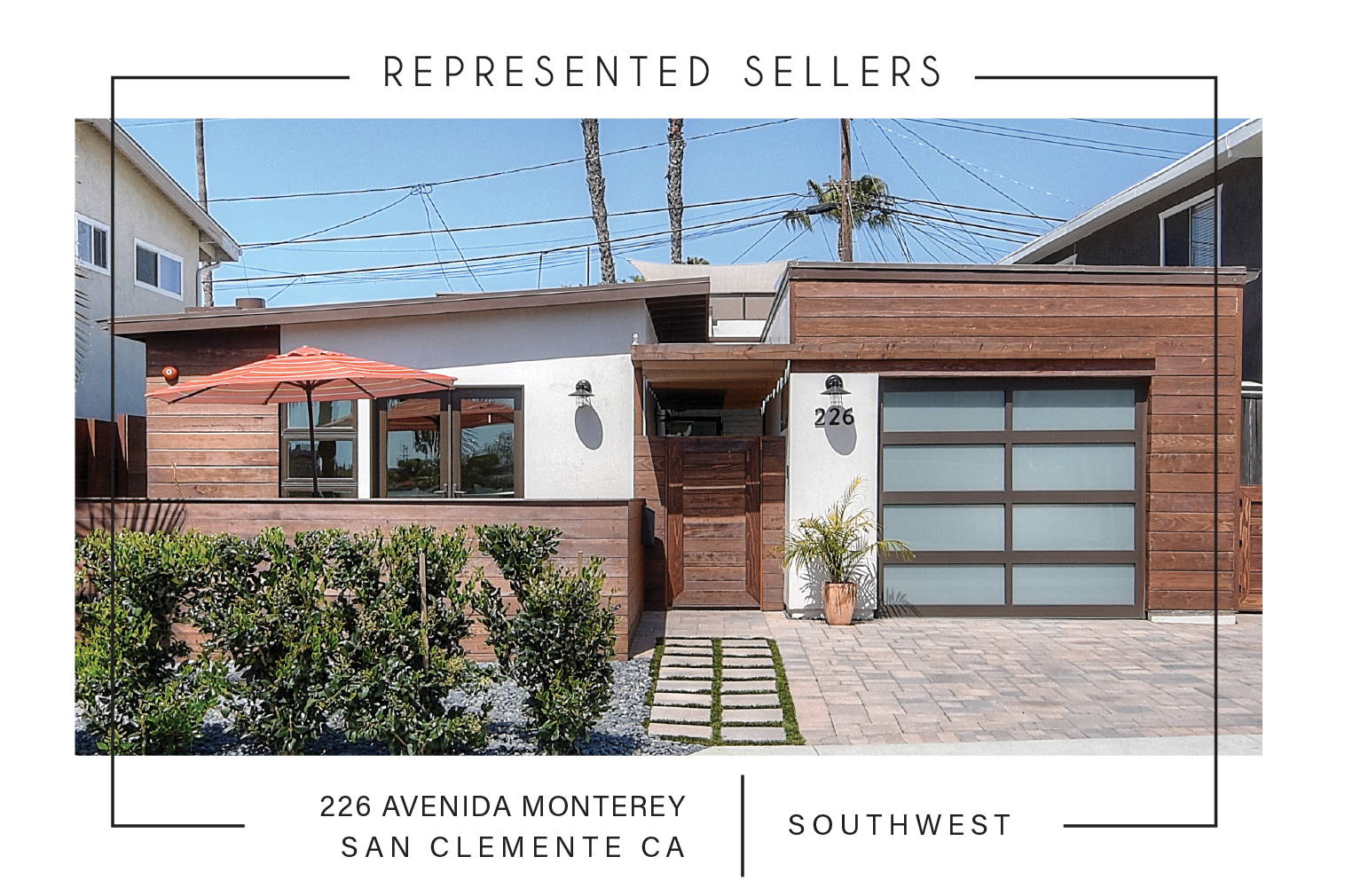 SOLD 8/09/2017    $1,350,000   226 AVenida Monterey SAN CLEMENTE CA