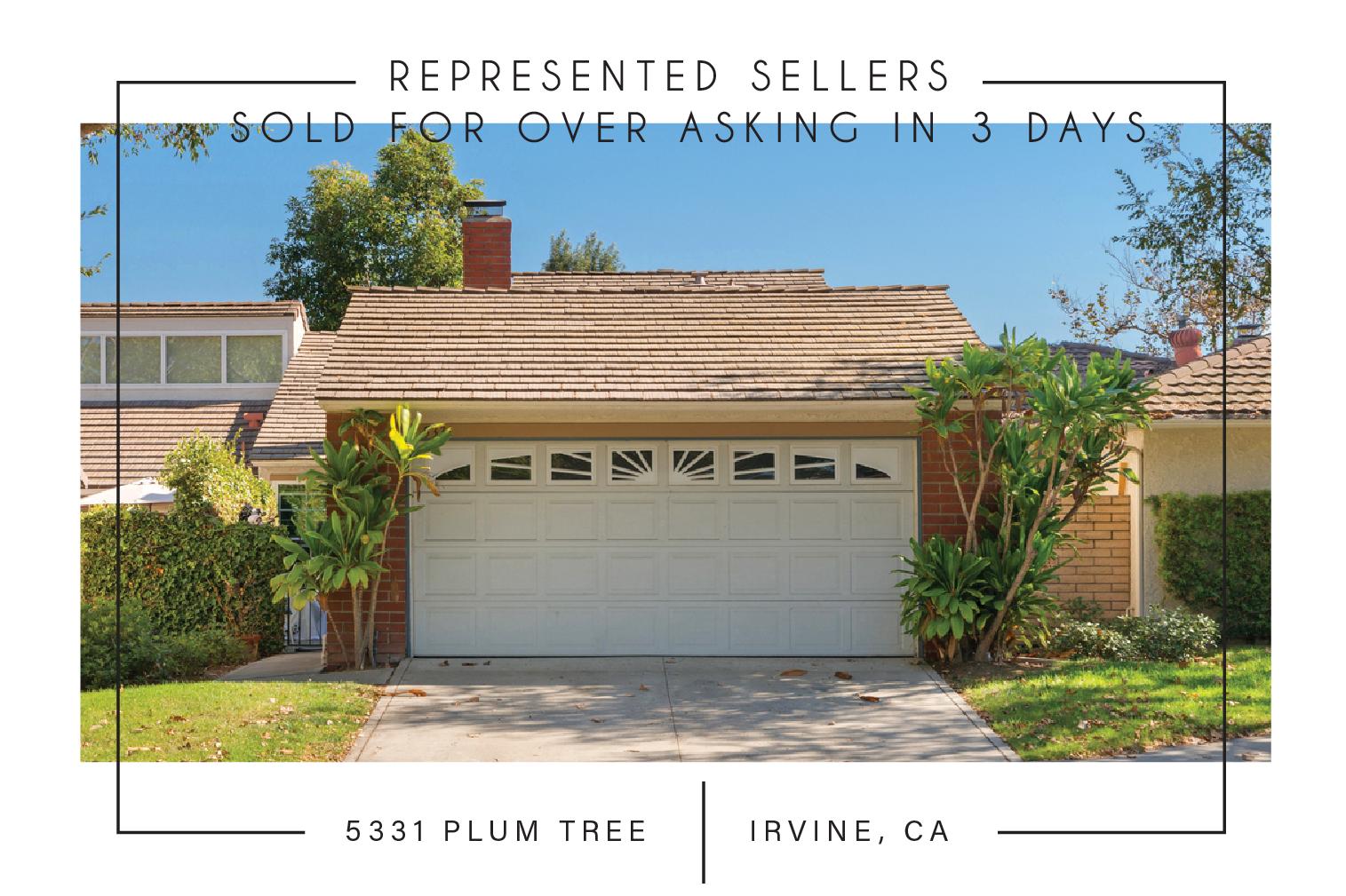 SOLD 11/27/2017    $624,000   5331 plum tree, irvine, ca