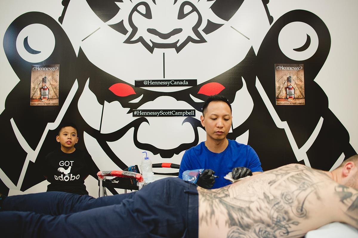 7 Kai 7th Samurai tattoos & Hennessy Scott Campbell pop up event.jpg