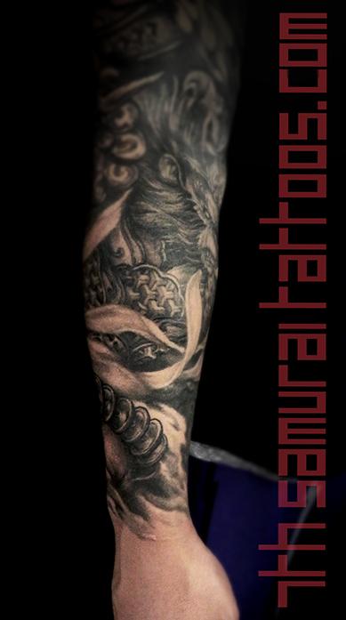 Asian horoscope chinese zodiac year of the monkey king dog rabbit (hare) men's astrology forearm sleeve kai 7th samurai best edmonton tattoo