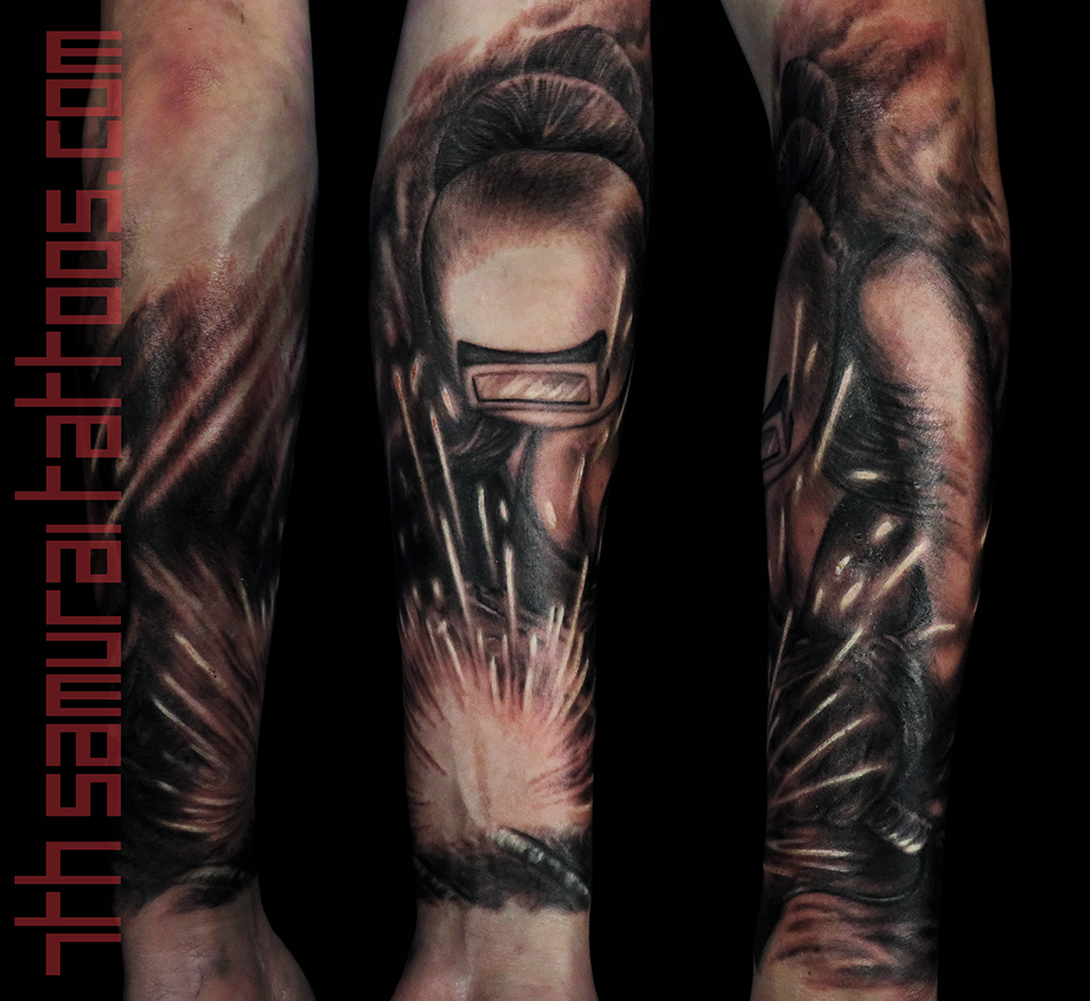 Men's welder mens pin up tits pipe fitter forearm tattoo 3.png