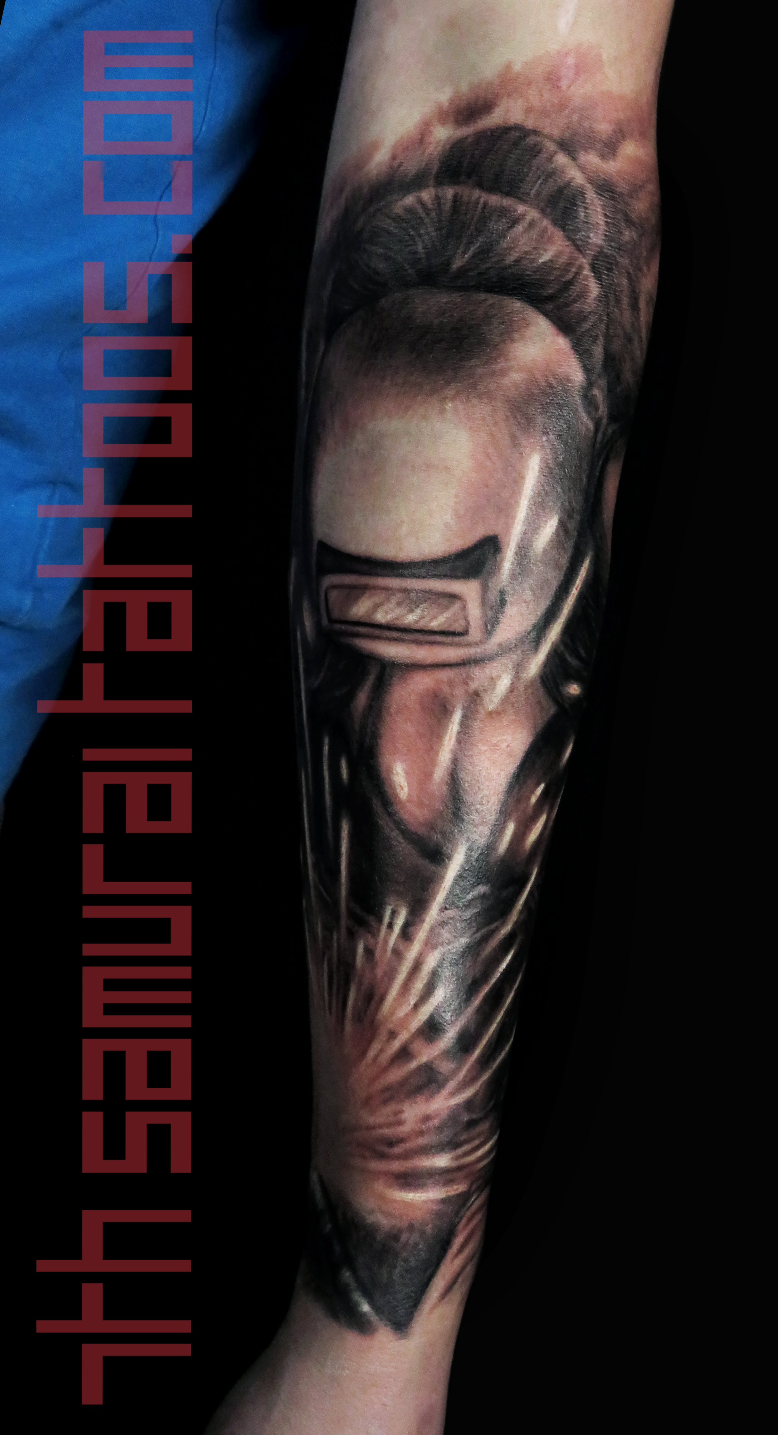 Men's welder mens pin up tits pipe fitter forearm tattoo 1.png