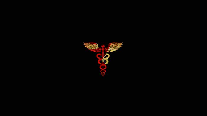 Men's Caduceus hospital medical symbol snake with wings rod Hermes staff medicine forearm sleeve best tattoo edmonton kai 7th samurai 2019