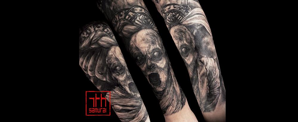 Men's Anubis unk pyramids mummy zombie morbid horror Egyptian sleeve best tattoo kai 7th samurai edmonton 2019