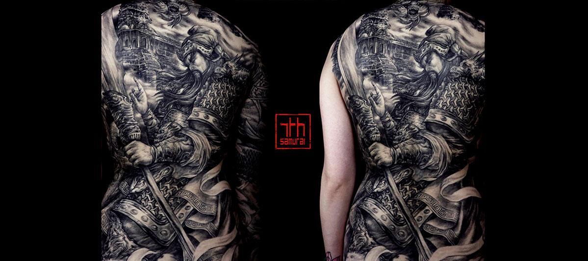 Women's Guan yu gong chinese deity angkor wat temple warrior kai 7th samurai edmonton best asian tattoo 2019