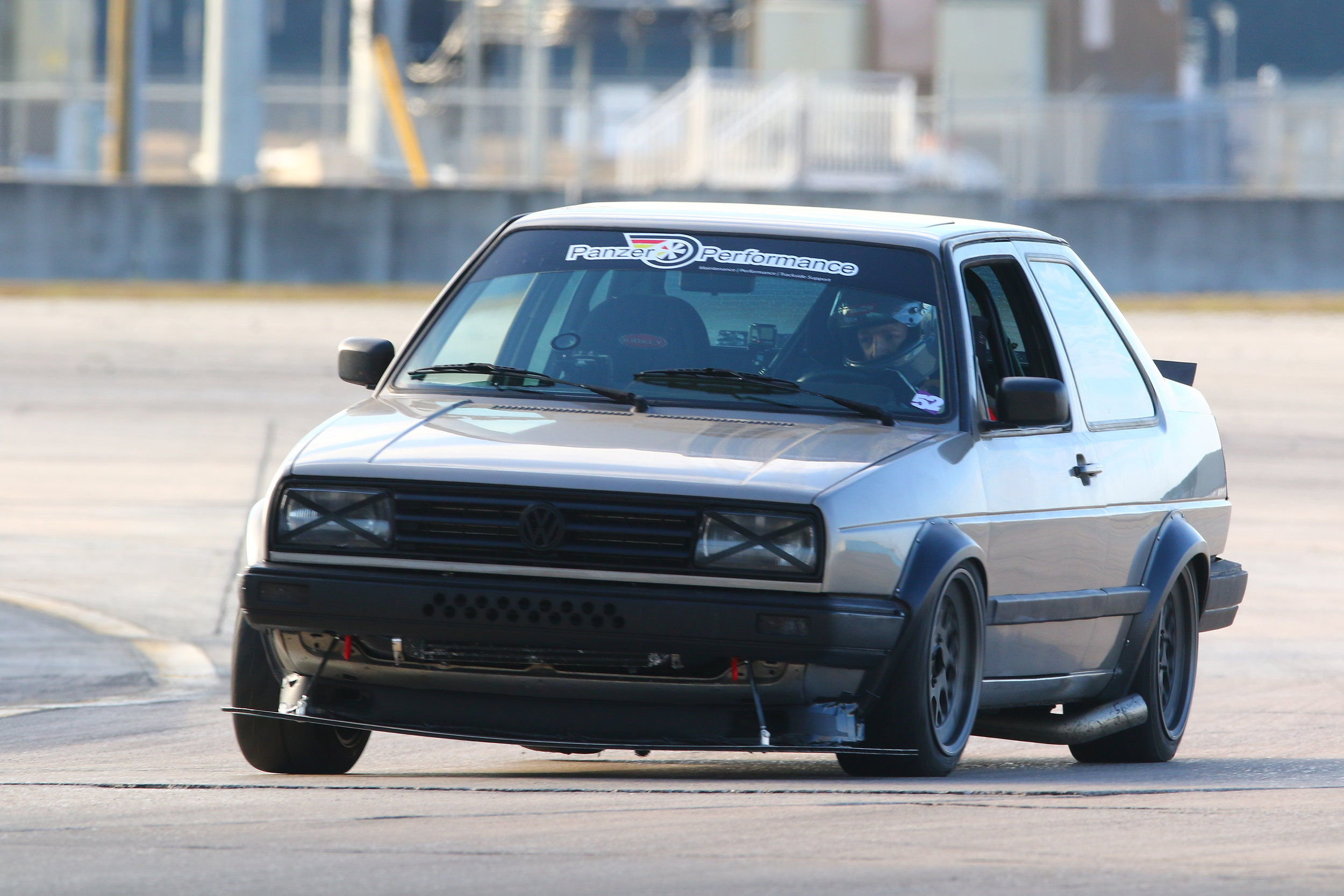 Tom's Jetta Coupe  Modified over many years, and now purely a track day machine. This Jetta Coupe has 300 hp from its turbocharged engine, many suspension and brake upgrades.