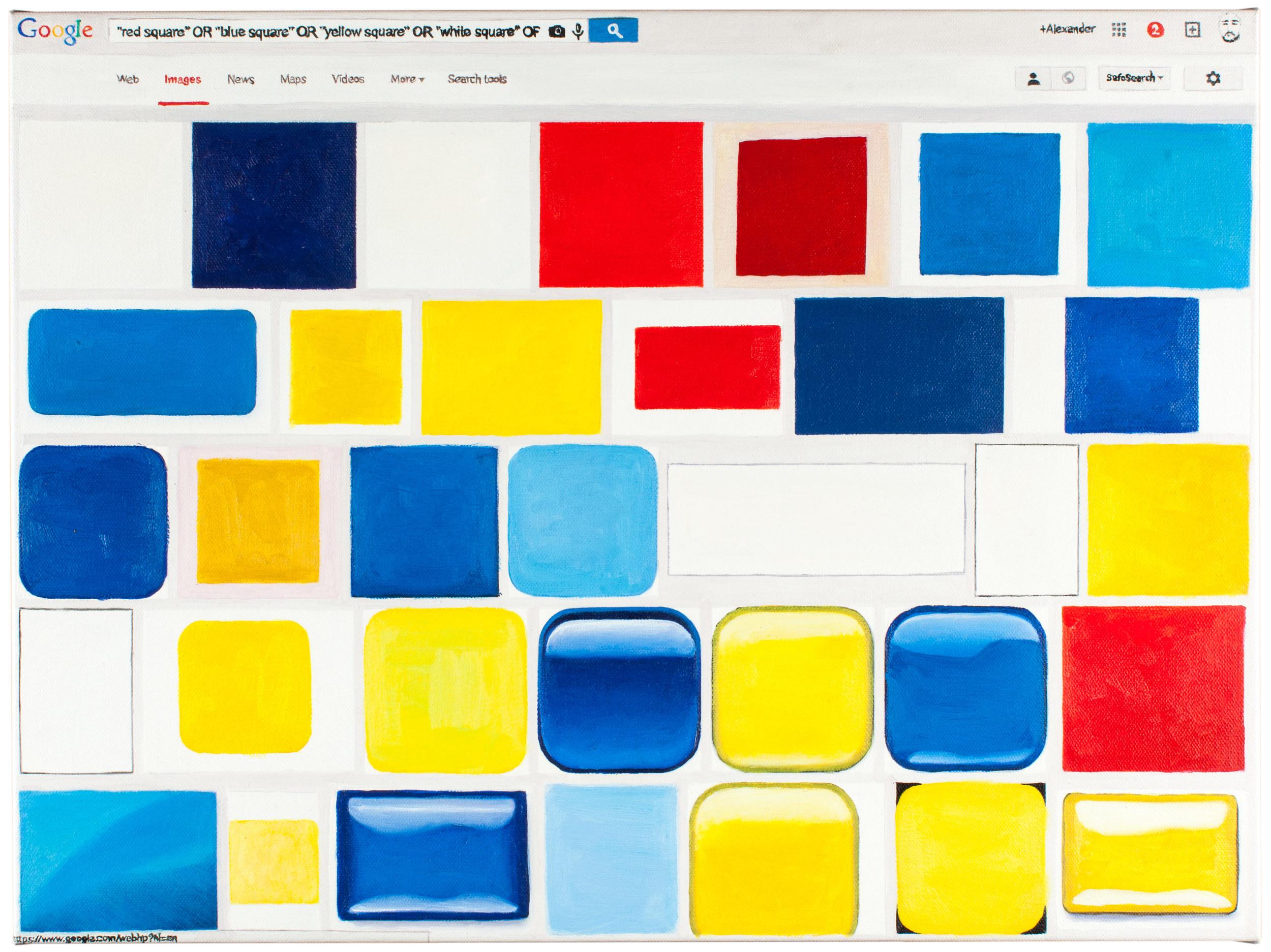 Alexander Tarrant   Google Images Mondrian   Oil on Canvas 24 x 18 inches