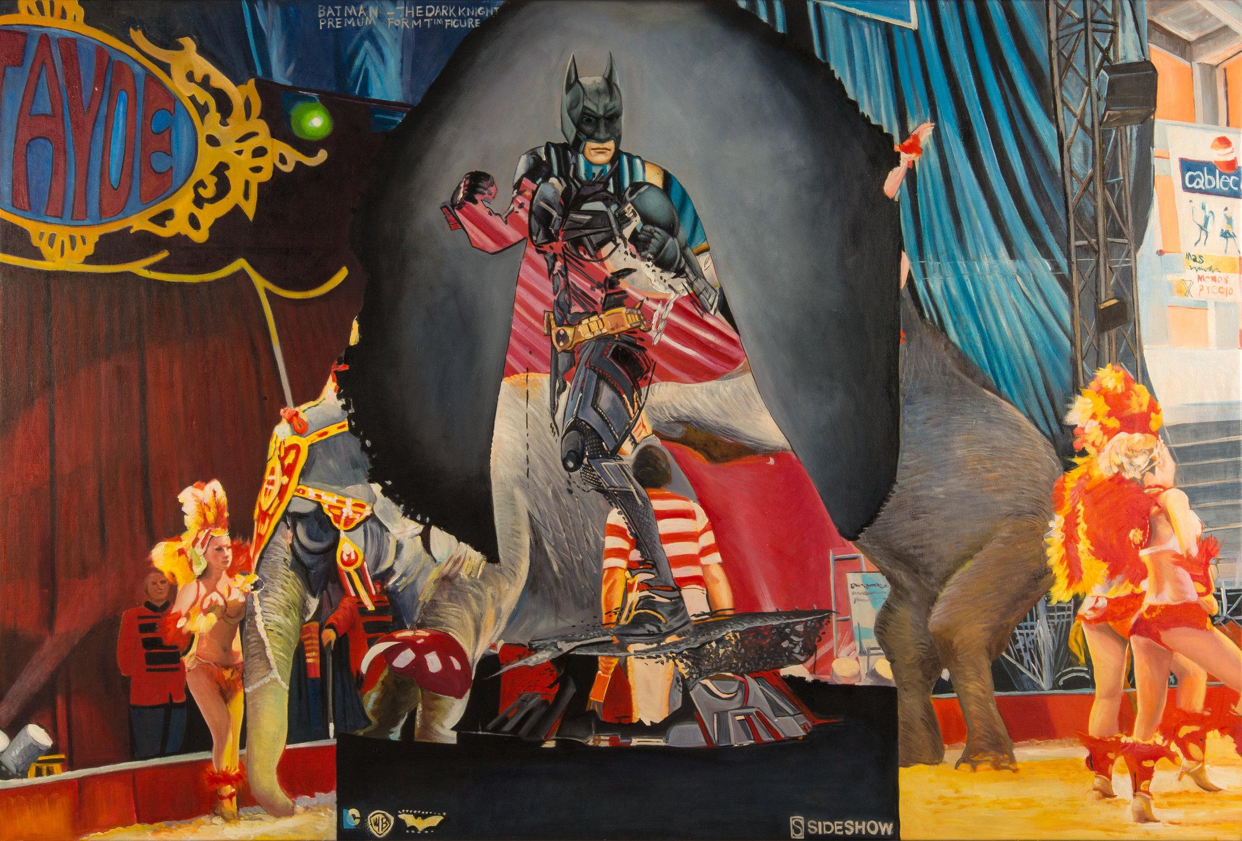 Alexander Tarrant   Circus Sideshow   Oil on Canvas