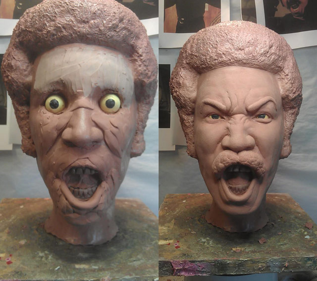 Clay sculpture by Jeff Wehenkel, before molding and casting in plastic