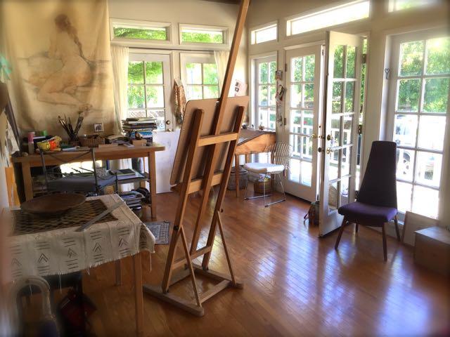 My Studio Space - Garden/Deck Facing Shot
