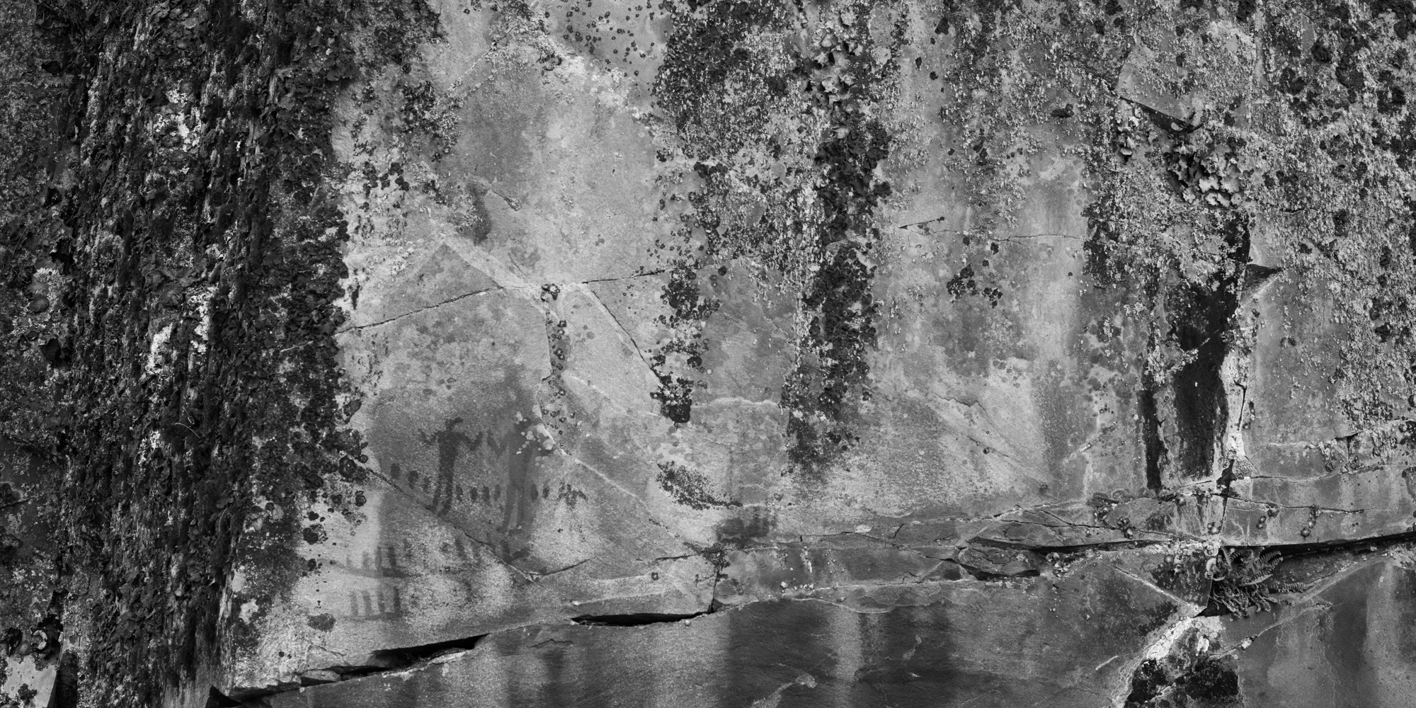 The pictographs can be seen in the lower left corner of the picture.