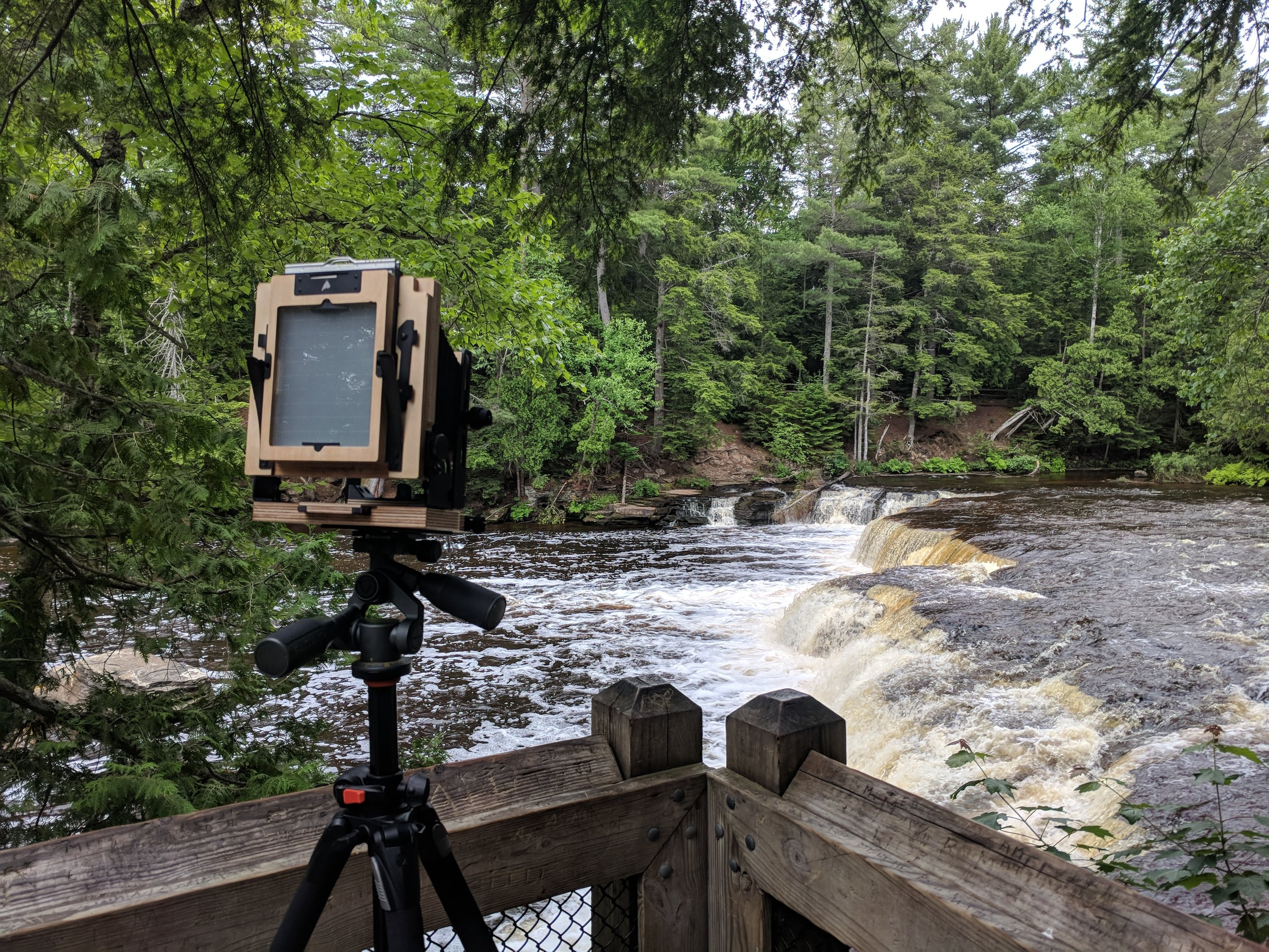 My Intrepid 4x5 MK3 in the wild at Tahquamenon Falls State Park in Michigan