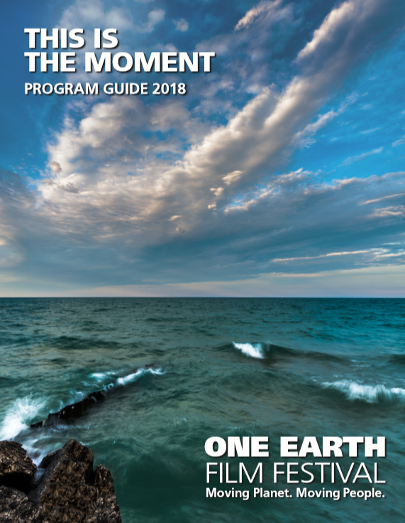 Program cover of Lake Erie and sky with clouds.