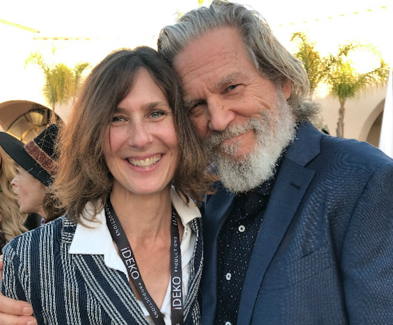 Director and cinematographer Susan Kucera and Academy Award winner Jeff Bridges.