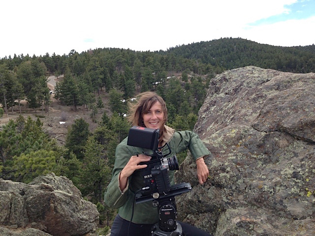 Susan Kucera with her camera