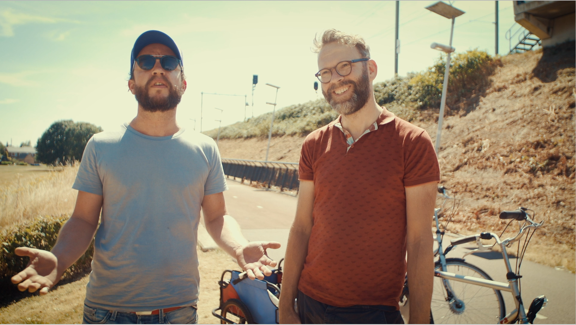 "Gertjan Hulster and Arne Gielen, directors of ""Why We Cycle."""