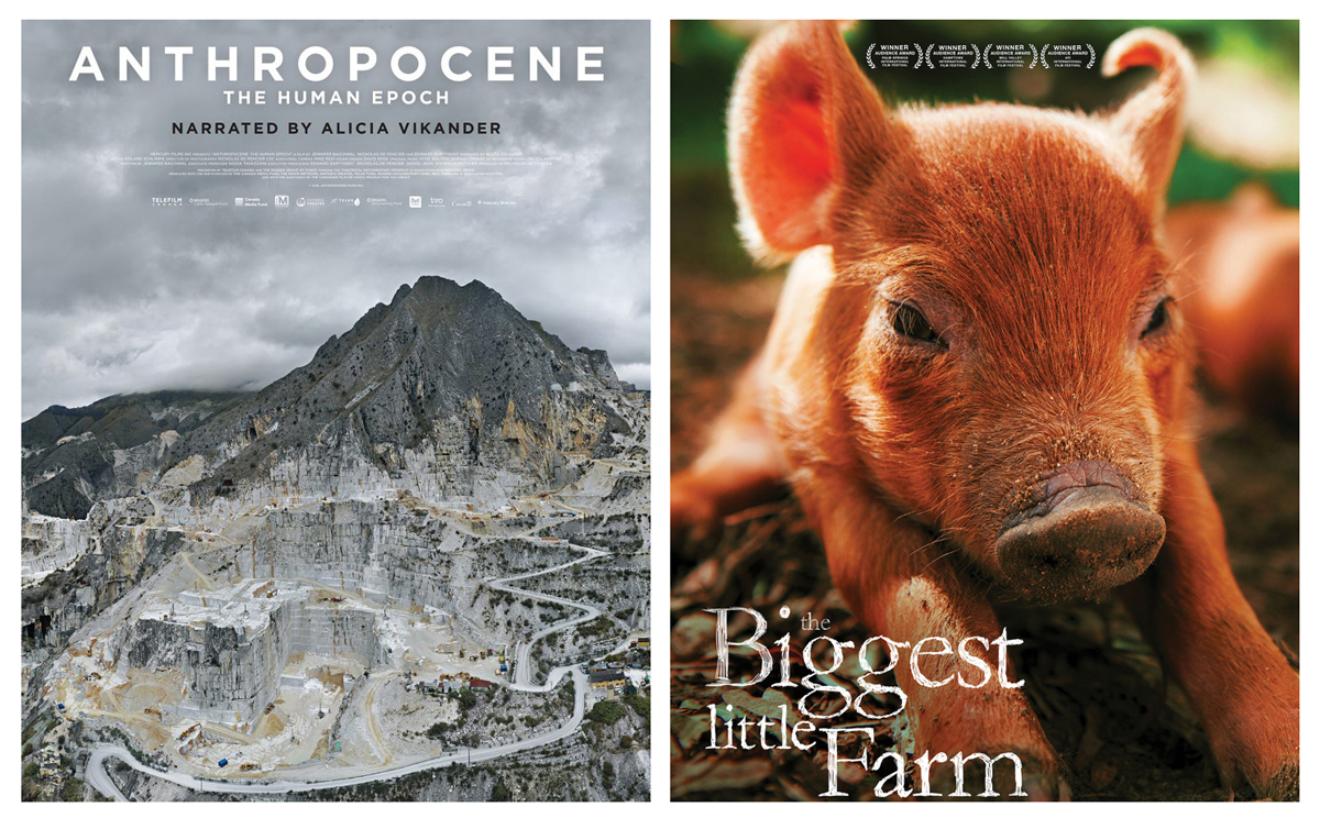 Anthropocene and Biggest Little Farm posters