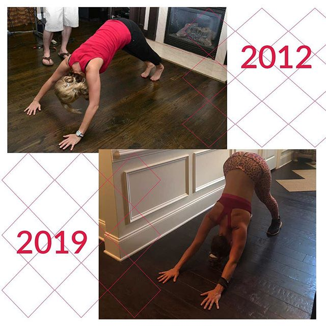 Yoga is never something to be measured. Yoga is a journey and can be a great option for building strength, endurance and stamina. Also a way to relieve stress, but looking back it's amazing to see where it all started, at some house party.... I started to get into it all.  #yogajourney #downdogpose #adhumukasvanasana🙏🏽 #journeytofit #lifelongtransformation #dailyyoga #yogaposes #yogaeverydamnday #yogapractice