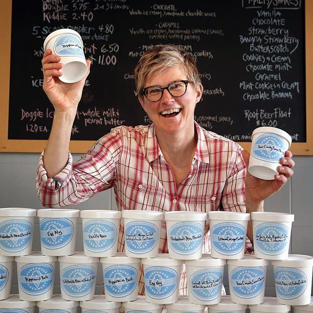 Psst.... Need ice cream delivered? Order our pints and quarts thru GrubHub or Postmates. Delivered right to your door, now you're glad you live in Minnesnowta!