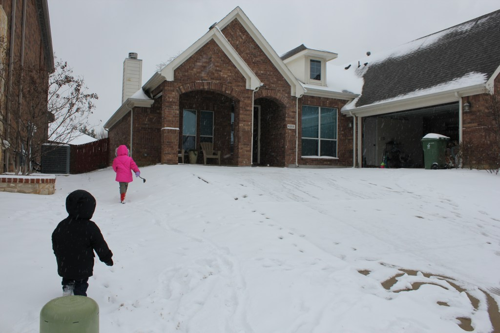"Texas' version of being ""snowed in"""