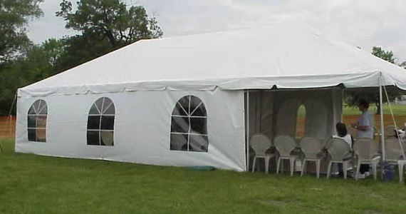 Tent with Curtains