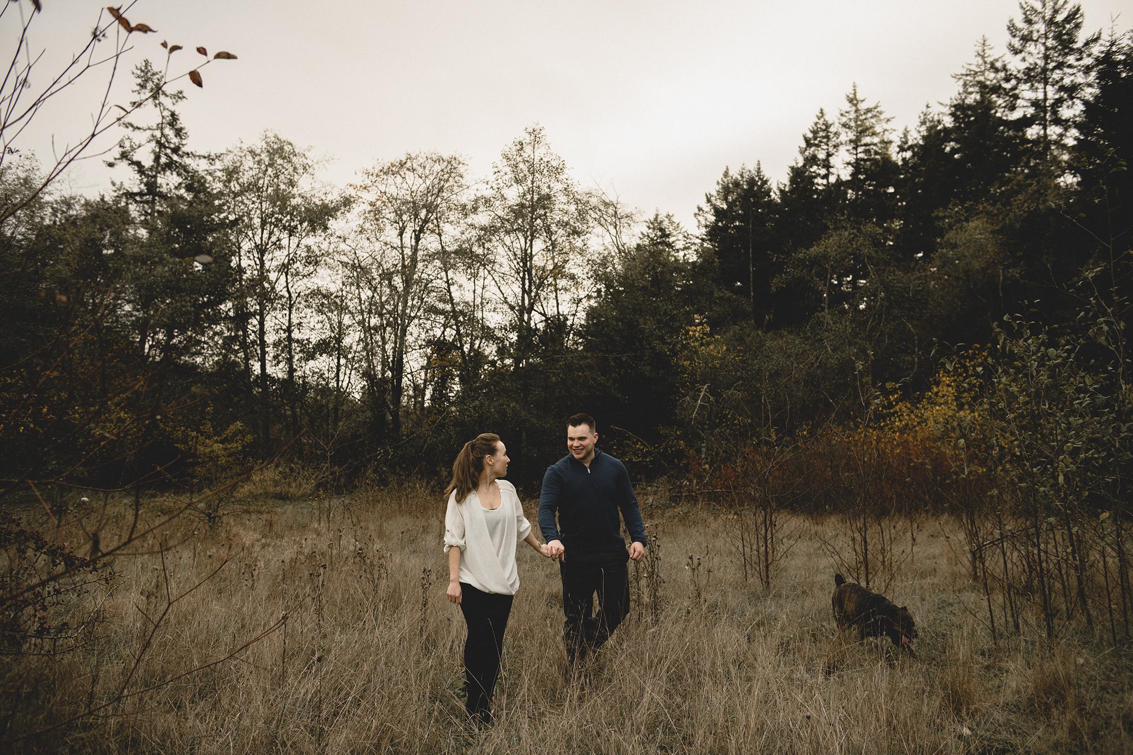 Stuart + Danielle - Elk Lake + Beaver Lake, Victoria BC Engagement