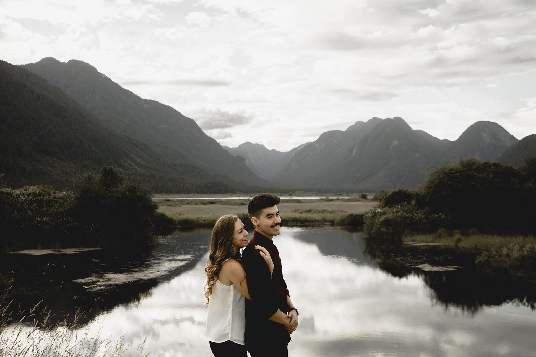 Pitt Lake Engagement Photographer