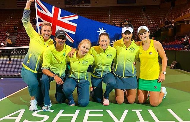 Brisbane Fed Cup Semi-final April 20-21 Australia v Belarus ON SALE NOW! Sit courtside and meet the players! Head to www.wethepeople.tours to secure your spot today! Link in bio #wethepeopletours