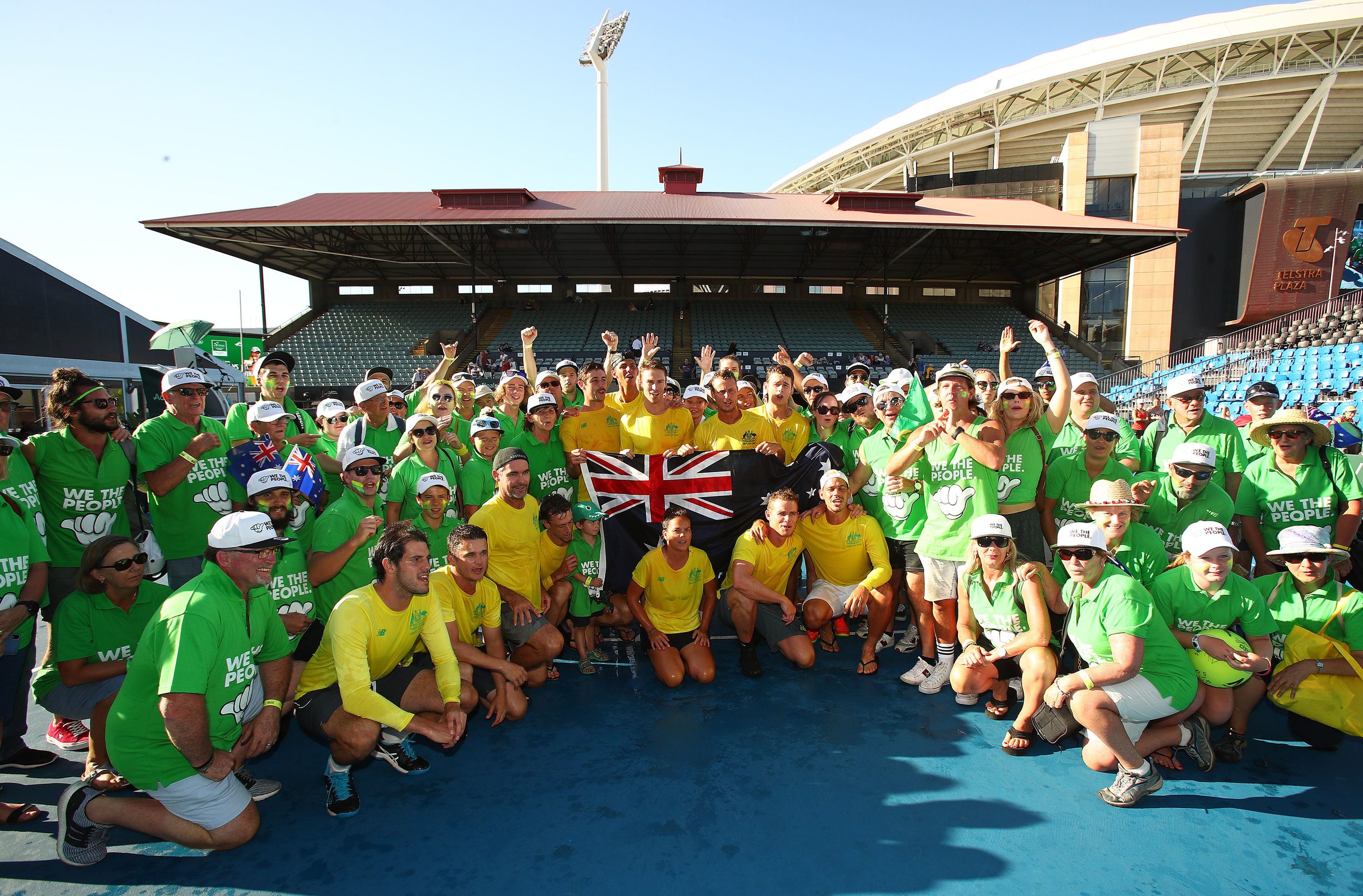 We The People supporters in an exclusive meet & greet opportunity with the entire Davis Cup team after their win against Bosnia in Adelaide 2019.