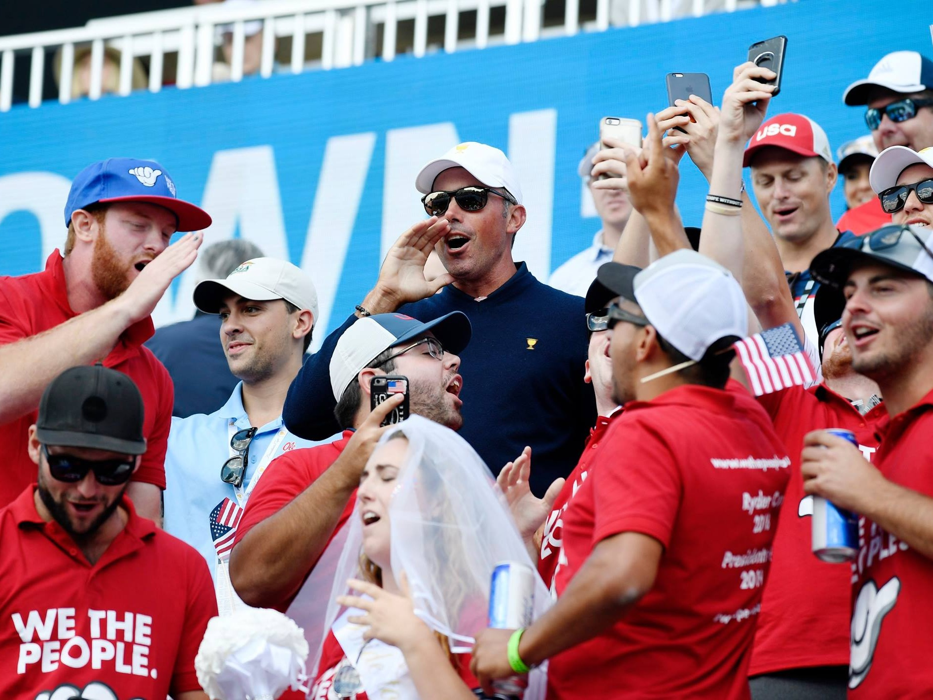Matt Kuchar joins We The People supporters cheering on Team USA!