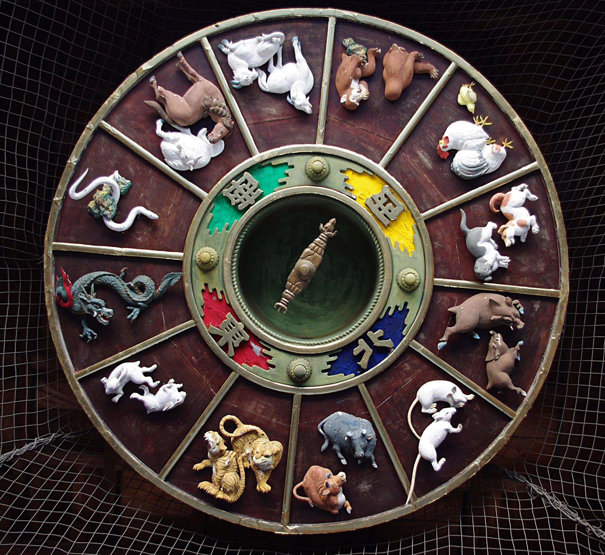 Asian zodiac wheel. (Photo:   Jakub Hałun  )