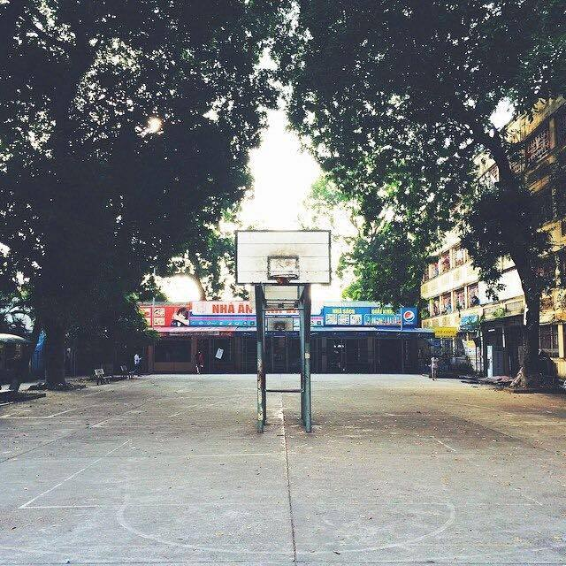 The Flash brothers played on this court in Hà Nội everyday during their childhood.  (Photo courtesy:  Henry Nguyễn )