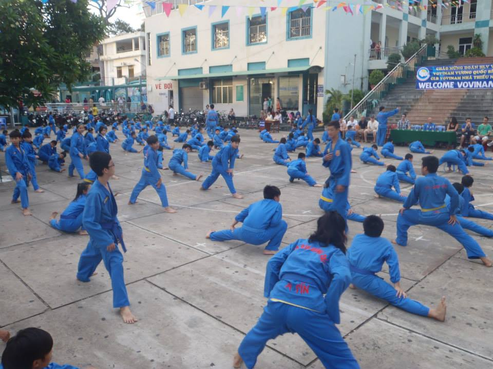 Vovinam Club from Blegny, Belgium visits Sài Gòn to practice with young practitioners. (Photo: Vovinam Blegny)