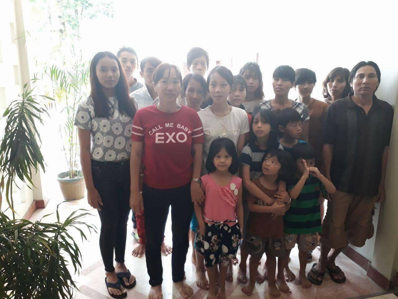 The group of 18 asylum seekers in Indonesia.(Photo Courtesy: Võ An Đôn)
