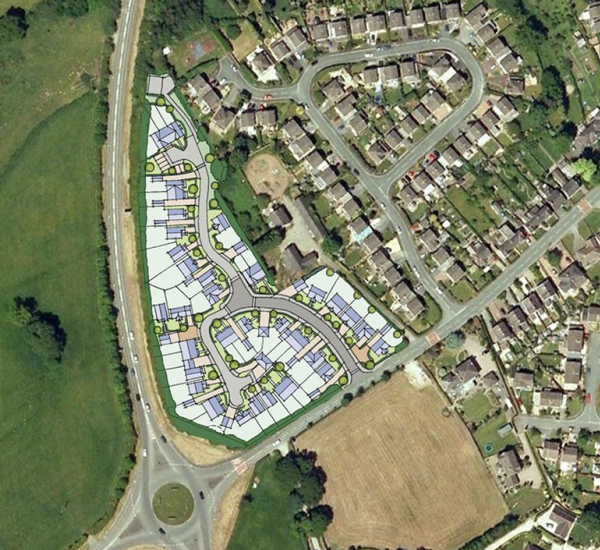 The original scheme in the outline application (2015)