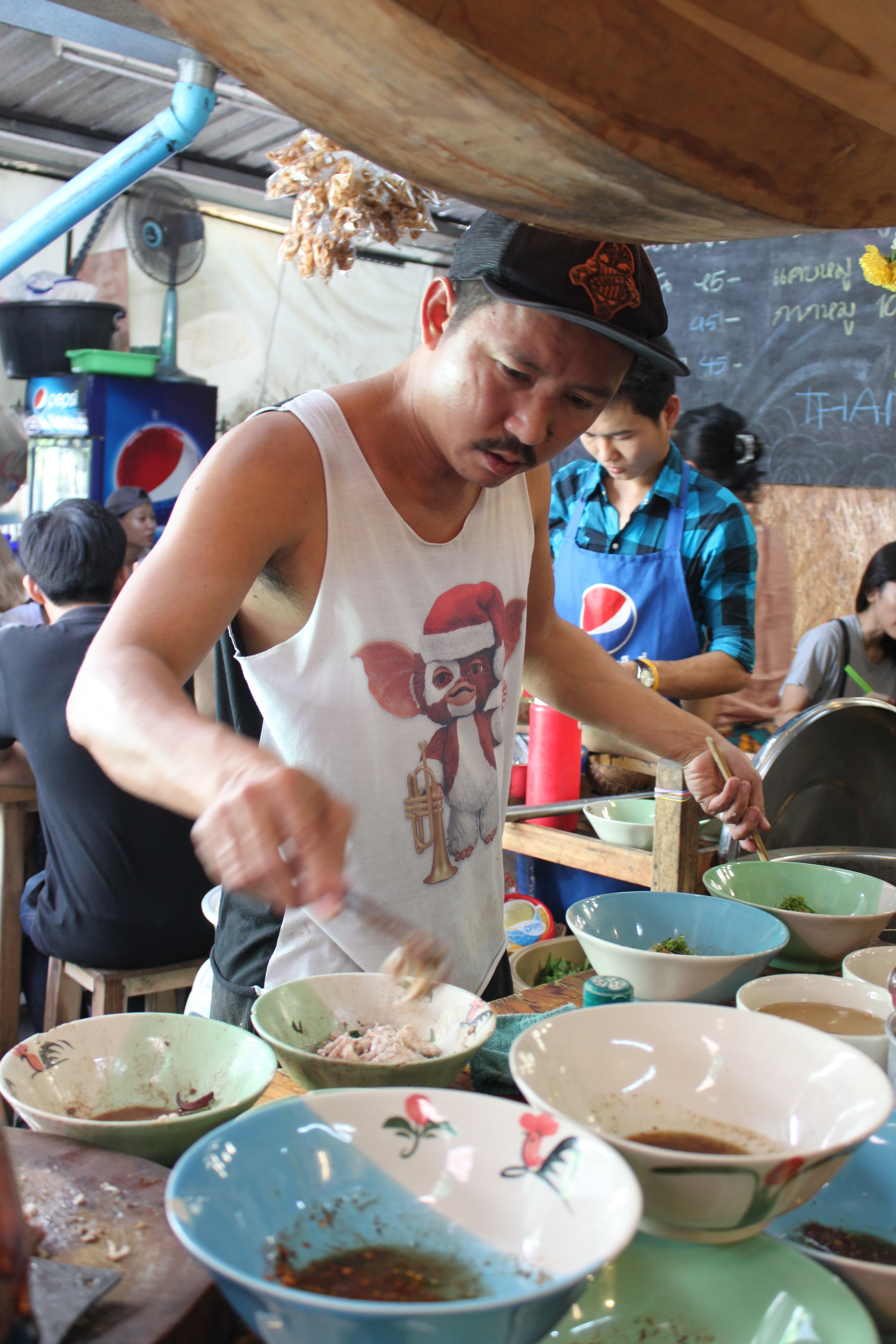 Noodle cook in Chatuchak Market
