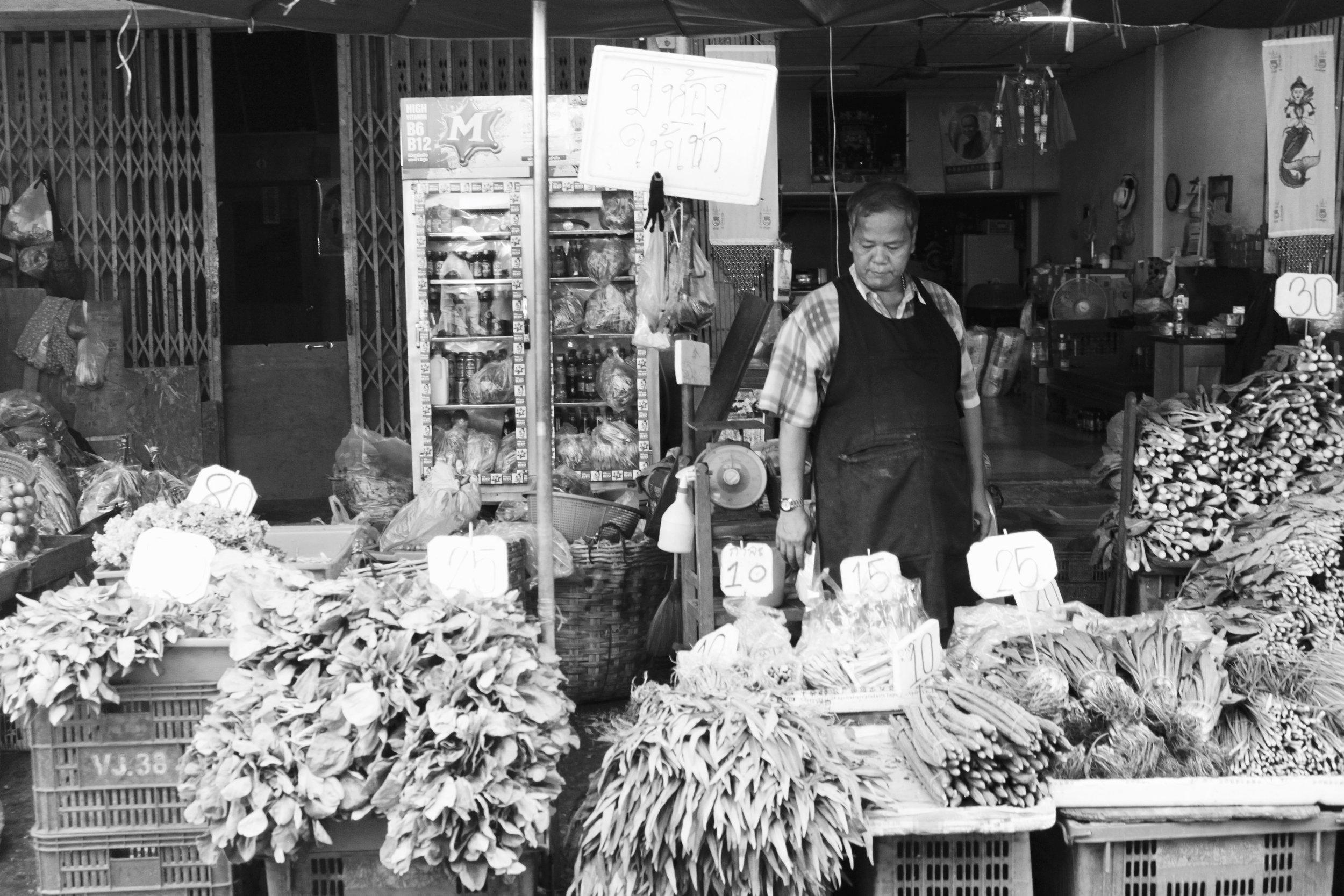 Veggies,  Khlong Toei Fresh Market