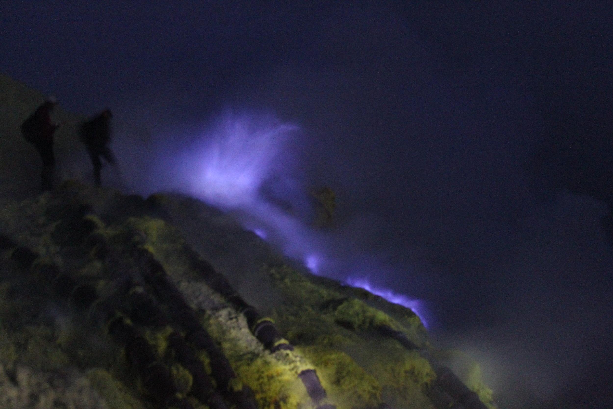 Blue Flames of Sulfuric Acid