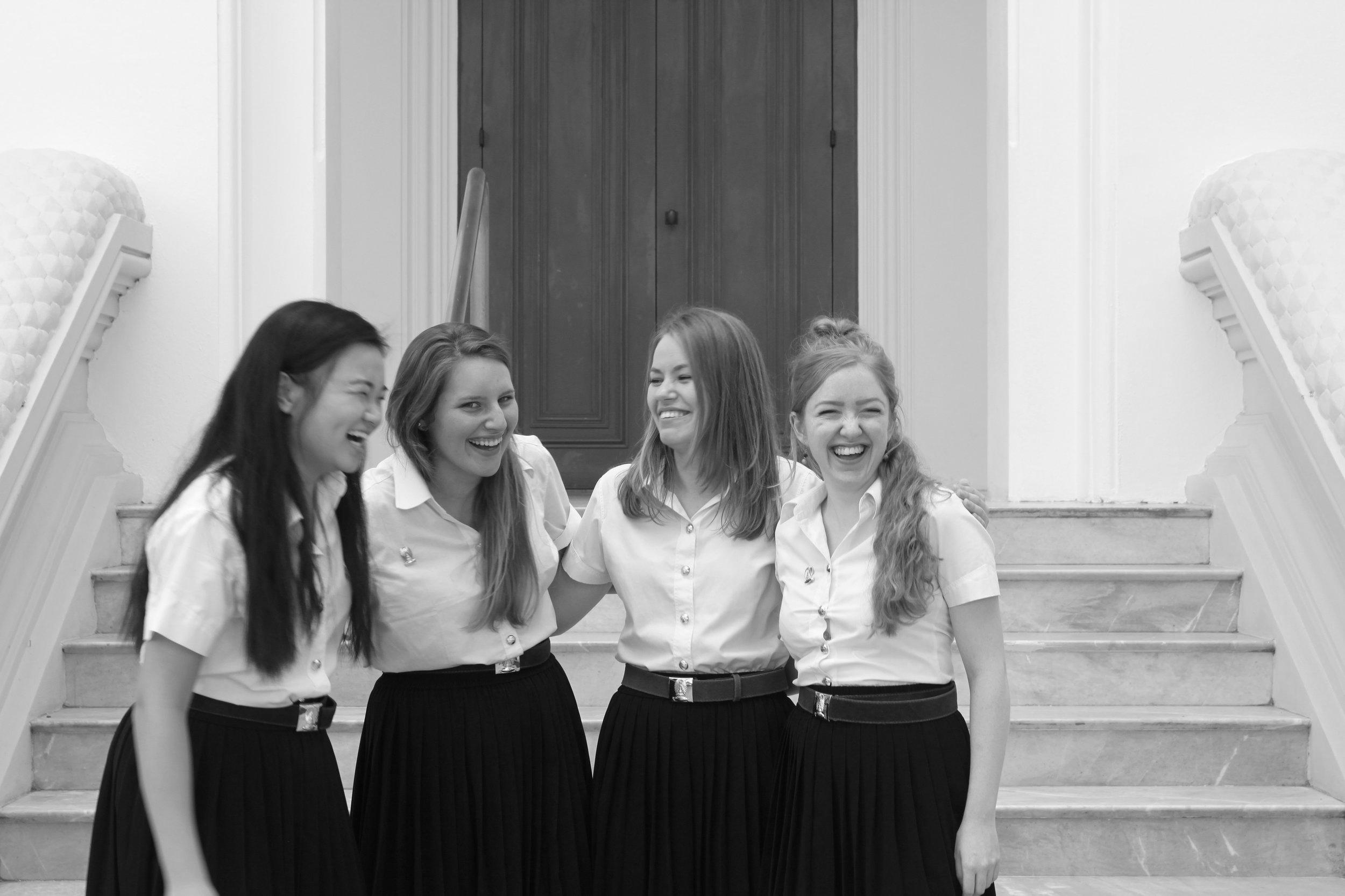 521: Me, Erika, Ebony, Charlotte, Chulalongkorn University