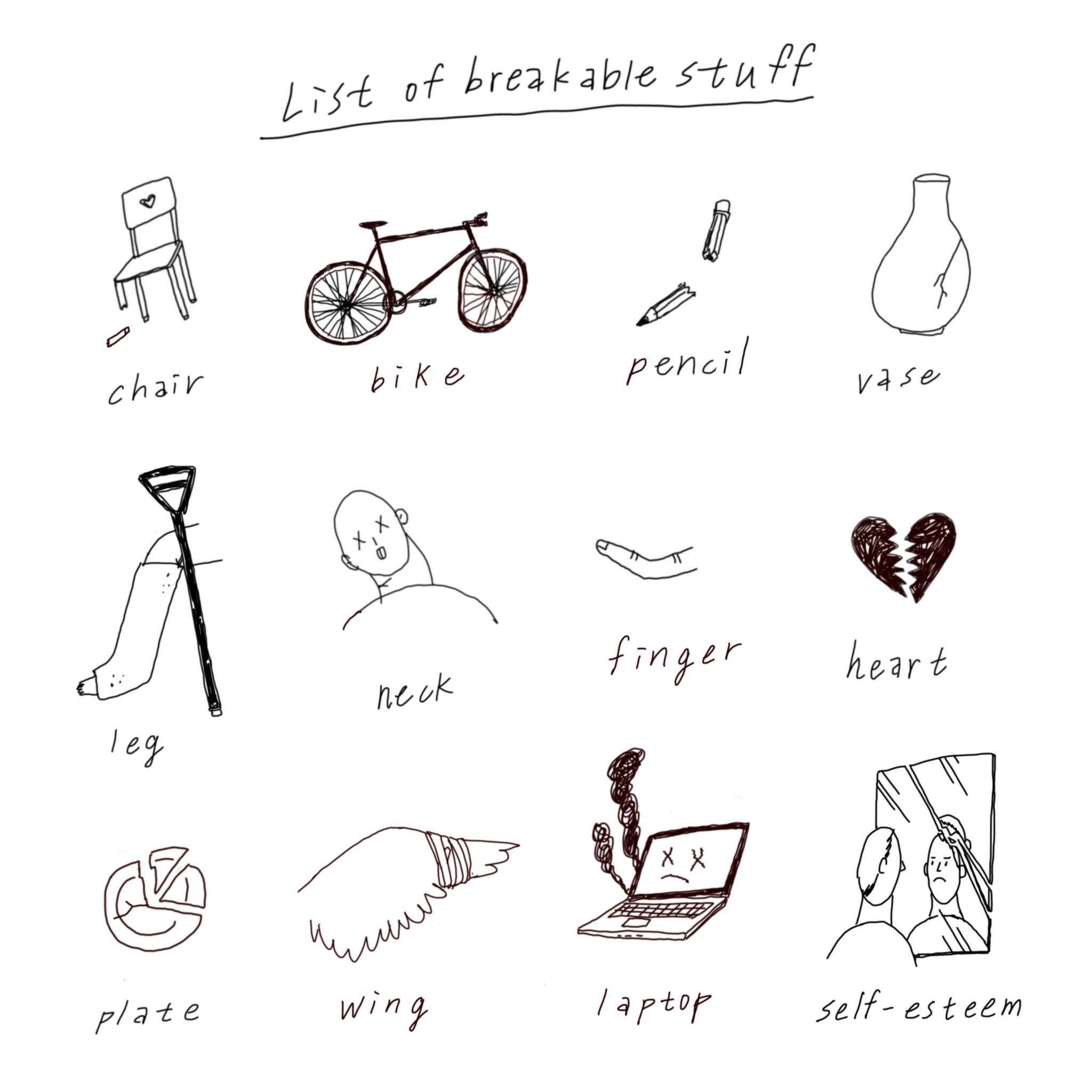 List of Breakable Stuff