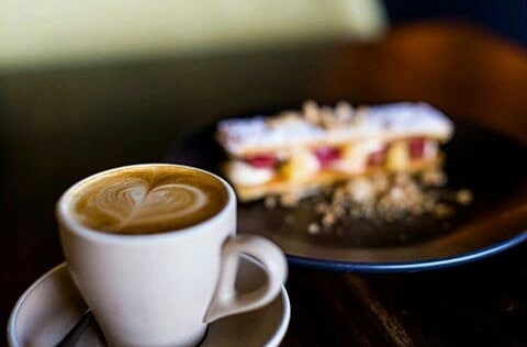 COFFEE AND DESSERT French dessert and a cup of our coffee in front of the fireplace. Yes please! The perfect way to spend a stormy afternoon @ameliaparkrestaurant #thecapeeffect #ameliaparkrestaurant